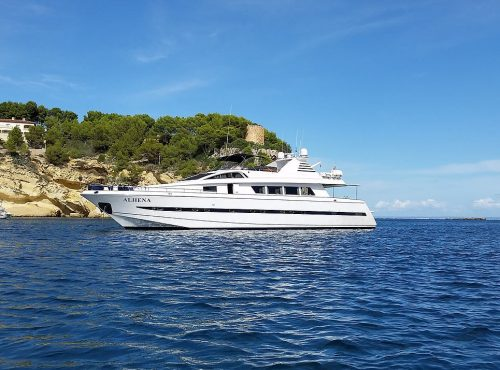Rent of Super Yacht Astondoa in Ibiza with 5 cabins