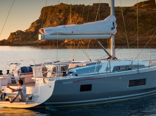 Ibiza sailboat rental Oceanis 46 with 3 cabins