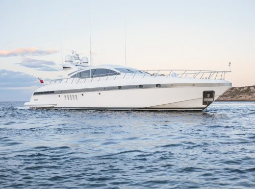 Ibiza Charter Mangusta 92 with 4 cabins