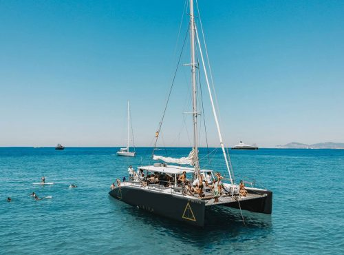 Catamarano per eventi privati a Ibiza